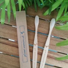 Bamboo Toothbrush - Adult Soft Bristles Plastic Free PlanetWarrior.UK