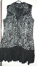 Tunika Gr.48 - schwarz/grau lagenlook neu