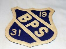 """""""1931 Bps"""" Felt Patch from an Unidentified Public School Measures 4 3/4"""" High"""