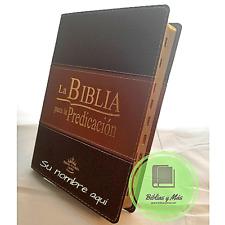 """Biblia Pastoral Para la Predicacion duo tono Cafe Con Indices  """"Personalizada"""""""