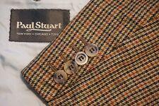 Paul Stuart SB Edward Multicolor Houndstooth Plaid Cashmere Blend Sport Coat 42L