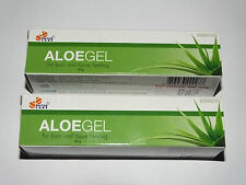 Aloe Vera Healing Gel For  Burns,Scars,Acne,Sunburn,Moisturizing  2 x 30g Tubes