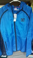 DC SHOES Men's XL Blue Hoodie Rain Jacket Full Zip Lightweight NWT  $70