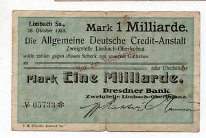 An992 Limbach, Dresdner Bank, 1Md.Mark, 18.10.23,