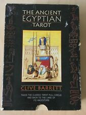 The Ancient Egyptian Tarot Clive Barrett Cards and Book