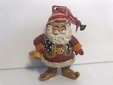 Mary Engelbreit Santa Claus 'The List' Christmas Ornament Me Ink Resin 4""