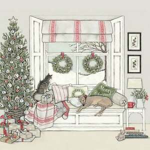 Sally Swannell Waiting For Father Christmas Box of 8 Christmas Cards