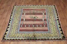 Traditional Vintage Wool 210cmX 167cm Oriental Rug Handmade Carpet Rugs
