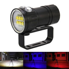 Fotografie Video 14X L2 LED 28800LM Rot Blau Licht Tauche Tauchlampe Bis 100m