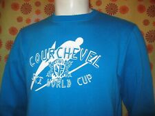 Ancien SWEAT PULL COURCHEVEL SKI WORLD CUP SUN VALLEY TM BLEU Alpin 1850 no ESF