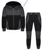 NEW BOYS TRACKSUIT SET FLEECE HOODIE TOP & BOTTOMS KIDS JOGGERS AGE 7 to 13 YEAR