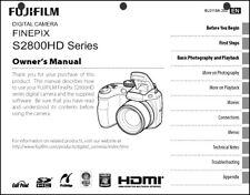 FujiFilm FinePix S2800 HD Digital Camera User Guide Instruction  Manual