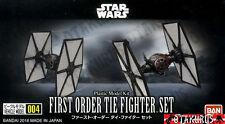 First Order Tie Fighter Set Star Wars Vehicle Model 86MM Kit Figure Bandai Japan
