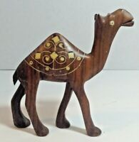 Vintage 5.5 Inch Tall Hand Carved Wood Wooden Camel Figure Figurine Nativity