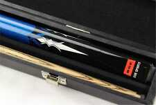 BCE Mark Selby Sapphire 2pc Ash Pool Snooker Cue & BCE ATTACHE CASE RIGIDO