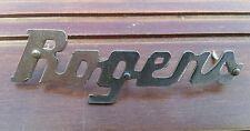 ROGERS VINTAGE DRUM BADGE Script Logo 60s Original!
