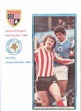 BRENDEN O'CALLAGHAN STOKE CITY 1977-1985 LARRY MAY LEIC CITY ORIG SIGNED PICTURE