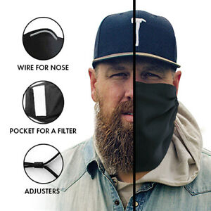 Face and Beard Protection Cover Mask  with Pocket for a Filter for Bearded Men
