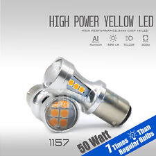 2018 1157 700 Lumen  Projector LED Amber Yellow Front Turn Signal Light Bulbs