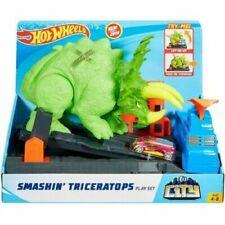 Hot Wheels City Smashin' Triceratops Play set W/ 1 Vehicle New