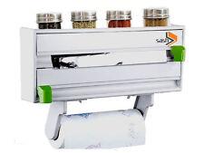 Livivo 4 IN1 mural cuisine roll s'accrocher feuille serviette cutter spice rack holder