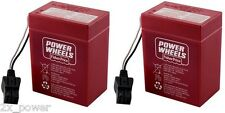 New Power Wheels RED BATTERY Mattel 6V Super 6 6 volt 00801-0712 TWO (2X) PIECES