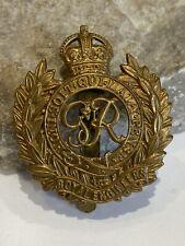 WW2 Royal Engineers Brass Cap Badge
