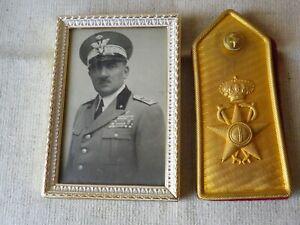 Schulterstück u.Foto eines Generals der Italienischen Armee 1.WK