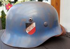 M35 STAHLHELM GERMAN HELMET FLAGHELFER BLAU LUFTWAFFE helm-fabrik