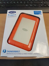 "LaCie Rugged V2 500GB SSD Thunderbolt + USB 3.0 Portable 2.5"" External SSD"