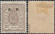 Luxembourg 1882-Mint hinged stamp (MH). Mi Service nr:  32 II. .(EB) MV-4813