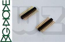 10 x cabecera Pin tira una fila recto macho chapado en oro de 12-Pin 12P 1.27mm