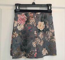 NWT Zara Women Shorts Bermuda Velvet Trim Satin Floral Ref 8273/160 size XS