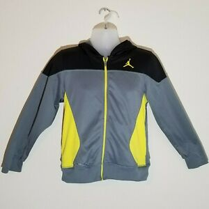 Air Jordan Therma Fit Jacket Youth Size XL Black, Gray, and Yellow