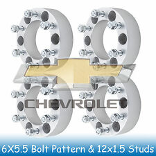 "2"" Chevy 6 Lug Wheel Spacers 6x5.5 6x139.7 Fits For Colorado 2004 - 2012"