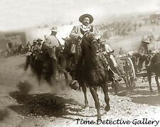Mexican General Francisco Pancho Villa on Horseback- 1914 - Historic Photo Print