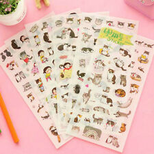 6pc Cute Meow Star People Cat Sticker DIY Diary Scrapbook Deco Decal DIY Craft