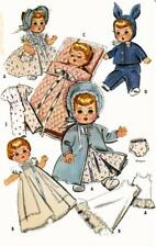 "Betsy Wetsy Ginette Tiny Tears Dydee Ideal 19"" 21"" Dolls Clothes Pattern 2183"