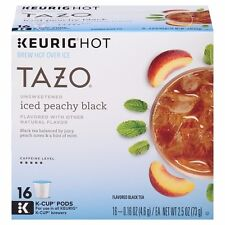 Keurig Starbucks Tazo - Iced Peach Peachy Black Tea - 16 ct K-Cup Pods K-Cups