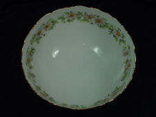 """CHINA T & V LIMOGE HAND PAINTED PEDESTAL DAISY CHAIN  BOWL 9 1/2"""" AS IS"""