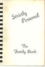 ENFIELD NH ANTIQUE * STRICTLY PERSONAL COOK BOOK * METHODIST CHURCH * LOCAL ADS