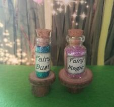 fairy dust and fairy magic bottles and 2 mini tables