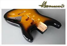 Nitro Finished Stratocaster Alder Replacement Body SSS Route, 2 Tone Sunburst #B