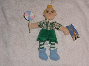 Lollipop Munchkin Kid Bean Plush Wizard of Oz (Warner Bros. 1998) with Tags