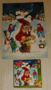 Love Lifted Me Jigsaw Puzzle 500 Seasons Greetings Santa Claus Christmas Kids