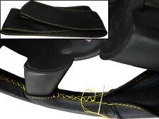 Pour dodge ram II 3500 94-01 volant en cuir noir surpiqûres jaunes de couverture