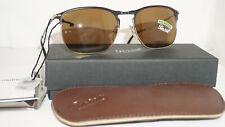 Persol Sunglasses New Matte Black Gold Brown Polarized PO7359S 107057 58 18 145