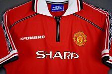 Manchester United Umbro shirt 1999 treble football soccer jersey XXS/kids large
