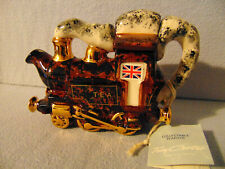 More details for special edition mottled effect very rare steam engine carter teapot ** mint