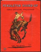1963 Official Rodeo Program - Pendelton Round-Up - Oregon Cowboy Competition